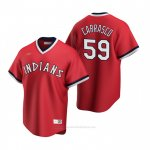 Camiseta Beisbol Hombre Cleveland Indians Carlos Carrasco Cooperstown Collection Road Rojo