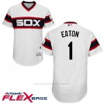 Camiseta Beisbol Hombre Chicago White Sox 1 Adam Eaton Blanco Autentico Coleccion Alterno Flex Base