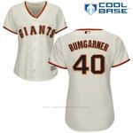 Camiseta Beisbol Mujer San Francisco Giants San Francisco Madison Bumgarner Cool Base Crema