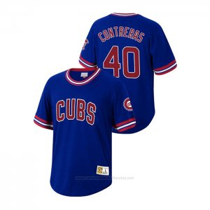 Camiseta Beisbol Hombre Chicago Cubs Willson Contreras Cooperstown Collection Azul