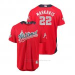 Camiseta Beisbol Hombre All Star Game Atlanta Braves Nick Markakis 2018 Primera Run Derby National League Rojo