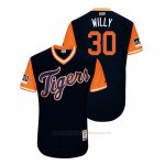 Camiseta Beisbol Hombre Detroit Tigers Alex Wilson 2018 Llws Players Weekend Willy Azul
