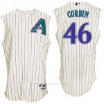 Camiseta Beisbol Hombre Arizona Diamondbacks 46 Patrick Corbin Blanco Turn Back The Clock