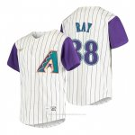Camiseta Beisbol Nino Arizona Diamondbacks Robbie Ray Cooperstown Collection Alterno Crema
