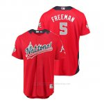 Camiseta Beisbol Hombre All Star Game Atlanta Braves Freddie Freeman 2018 Primera Run Derby National League Rojo