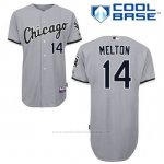 Camiseta Beisbol Hombre Chicago White Sox 14 Bill Melton Gris Cool Base
