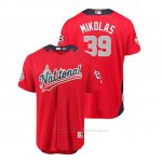 Camiseta Beisbol Hombre All Star Game Cardinals Miles Mikolas 2018 Primera Run Derby National League Rojo