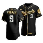 Camiseta Beisbol Hombre Washington Nationals Eric Thames Golden Edition Autentico Negro Oro