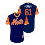 Camiseta Beisbol Hombre New York Mets Bobby Wahl 2018 Llws Players Weekend Peanut Royal