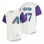 Camiseta Beisbol Nino Arizona Diamondbacks Andrew Chafin Cooperstown Collection Alterno Crema