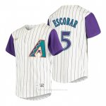 Camiseta Beisbol Nino Arizona Diamondbacks Eduardo Escobar Cooperstown Collection Alterno Crema