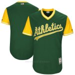 Camiseta Beisbol Hombre Oakland Athletics Players Weekend 2017 Personalizada Verde