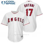 Camiseta Beisbol Hombre Los Angeles Angels 17 Shohei Ohtani Blancoofficial Jugador Cool Base