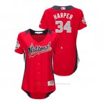 Camiseta Beisbol Mujer All Star Game Majestic Bryce Harper 2018 Primera Run Derby National League Rojo
