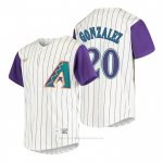 Camiseta Beisbol Nino Arizona Diamondbacks Luis Gonzalez Cooperstown Collection Alterno Crema