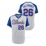 Camiseta Beisbol Hombre Atlanta Braves 26 Mike Foltynewicz Turn Back The Clock 1979 Autentico Gris Azul