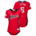 Camiseta Beisbol Mujer All Star Game Majestic Freddie Freeman 2018 Primera Run Derby National League Rojo