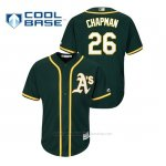 Camiseta Beisbol Hombre Oakland Athletics 26 Matt Chapman Cool Base Majestic Alternato Replica Verde