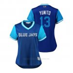 Camiseta Beisbol Mujer Toronto Blue Jays Lourdes Gurriel Jr. 2018 Llws Players Weekend Yunito Azul