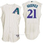 Camiseta Beisbol Hombre Arizona Diamondbacks 21 Zack Greinke Blanco Turn Back The Clock