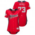 Camiseta Beisbol Mujer All Star Game Majestic Felipe Vazquez 2018 Primera Run Derby National League Rojo