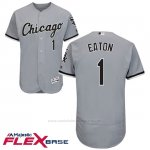Camiseta Beisbol Hombre Chicago White Sox 1 Adam Eaton Gris Autentico Coleccion Flex Base