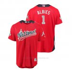 Camiseta Beisbol Hombre All Star Game Atlanta Braves Ozzie Albies 2018 Primera Run Derby National League Rojo