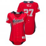 Camiseta Beisbol Mujer All Star Game Majestic Aaron Nola 2018 Primera Run Derby National League Rojo