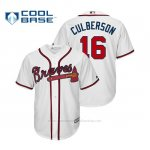 Camiseta Beisbol Hombre Atlanta Braves Charlie Culberson Cool Base Official Primera Blanco