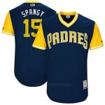 Camiseta Beisbol Hombre San Diego Padres 2017 Little League World Series Cory Spangenberg Azul