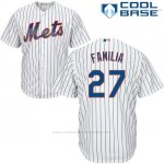 Camiseta Beisbol Hombre New York Mets 27 Jeurys Familia Blanco Cool Base
