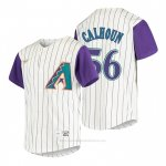 Camiseta Beisbol Nino Arizona Diamondbacks Kole Calhoun Cooperstown Collection Alterno Crema