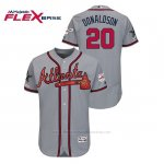 Camiseta Beisbol Hombre Atlanta Braves Josh Donaldson 2019 All Star Flex Base Gris