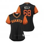Camiseta Beisbol Mujer San Francisco Giants Casey Kelly 2018 Llws Players Weekend Kelly Negro