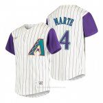 Camiseta Beisbol Nino Arizona Diamondbacks Ketel Marte Cooperstown Collection Alterno Crema
