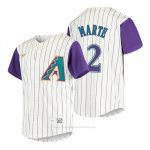 Camiseta Beisbol Nino Arizona Diamondbacks Starling Marte Cooperstown Collection Alterno Crema