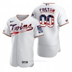 Camiseta Beisbol Hombre Minnesota Twins Personalizada 2020 Stars & Stripes 4th of July Blanco
