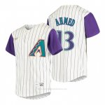 Camiseta Beisbol Nino Arizona Diamondbacks Nick Ahmed Cooperstown Collection Alterno Crema