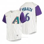 Camiseta Beisbol Nino Arizona Diamondbacks David Peralta Cooperstown Collection Alterno Crema