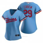 Camiseta Beisbol Mujer Minnesota Twins Rod Carew Replica Alterno Azul
