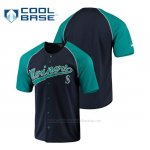 Camiseta Beisbol Hombre Seattle Mariners Personalizada Stitches Azul