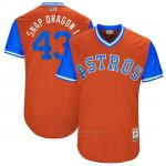 Camiseta Beisbol Hombre Houston Astros 2017 Little League World Series Lance Mccullers Jr Naranja