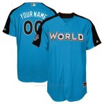 Camiseta Beisbol Hombre Team World 2017 MLB All-Star Game Personalizada Azul