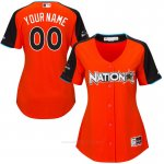 Camiseta Beisbol Mujer National League 2017 MLB All-Star Game Personalizada Naranja