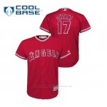 Camiseta Beisbol Nino Los Angeles Angels 17 Shohei Ohtani Cool Base Alternato Rojo