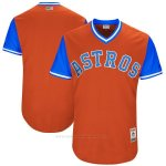 Camiseta Beisbol Hombre Houston Astros Players Weekend 2017 Personalizada Naranja