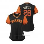 Camiseta Beisbol Mujer San Francisco Giants Buster Posey 2018 Llws Players Weekend Buster Negro