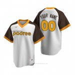 Camiseta Beisbol Hombre San Diego Padres Personalizada Cooperstown Collection Primera Blanco