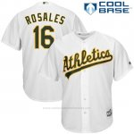 Camiseta Beisbol Hombre Oakland Athletics Adam Rosales Blanco Cool Base