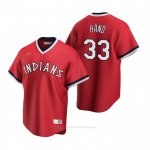 Camiseta Beisbol Hombre Cleveland Indians Brad Hand Cooperstown Collection Road Rojo